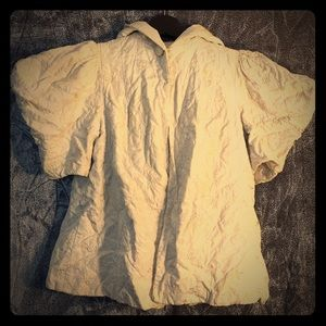 Jackets & Blazers - Vintage bed jacket/cape. Quilted ivory roses.
